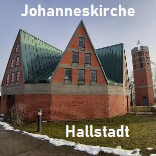 Bild mit Text als Link zur Johanneskirche Hallstadt